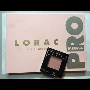 Lorac MegaPro 4 and FitMe Blush in mauve